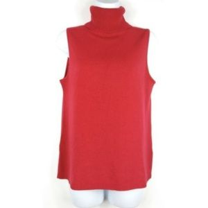 Josephine Chaus Turtleneck Size Small Tank Top